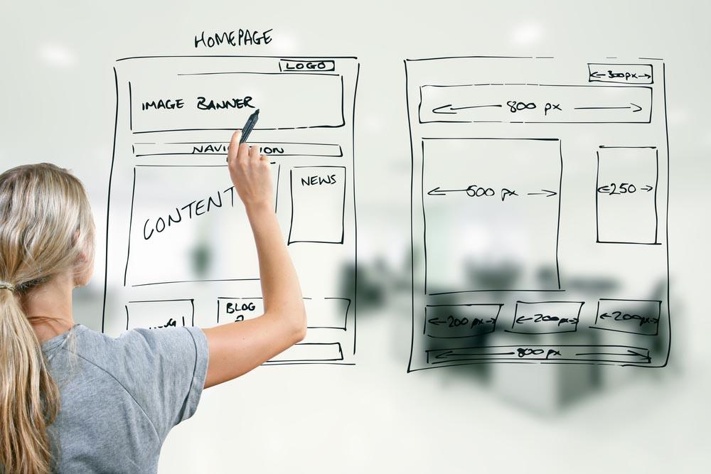 разработка сайта на основе прототипов в Kofelatte Studio